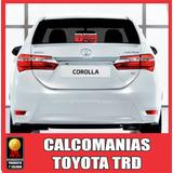 Toyota Corolla Starlet Yaris Trd Calcomanias Carros