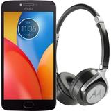 Celular Motorola E Plus Xt1772 Azul + Auricular De Regalo