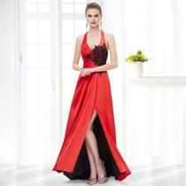 Vestido Fiesta Largo Rojo Gordita Especial Grandes Y Chicos