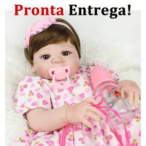 Hoje Promoção Bebe Reborn Grande Toda Vinil Pronta Entrega