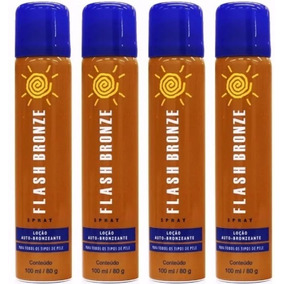 Kit 4 Flash Bronze Spray Auto Bronzeador 100ml