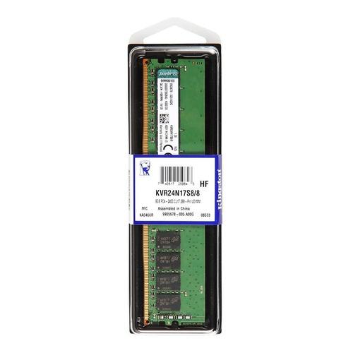 Memoria RAM 8GB 1x8GB Kingston KVR24N17S8/8 ValueRAM