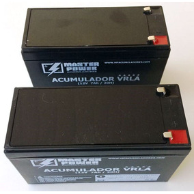 Kit 2 Baterias 12v 7ah Master Selada Bateria Nacional