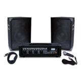 Equipo Sonido Portatil Uso Profesional Con 4 Inputs 75 Watts