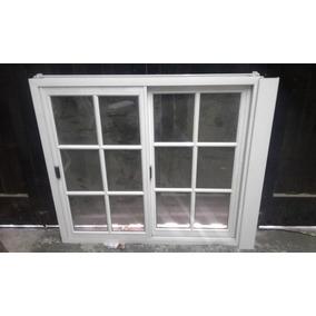 ventana de aluminio vidrio repartido 3 hojas aberturas