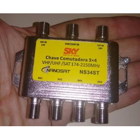 20pçs Chave Comutadora Switch 3x4 Sky Incrivel R$3,99 Cada
