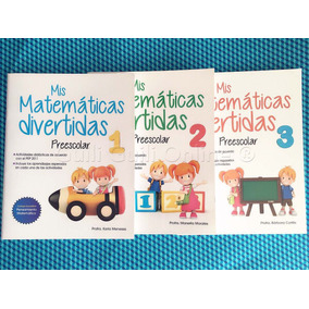 3 Libros Mis Matemáticas Divertidas Aprendizaje Preescolar