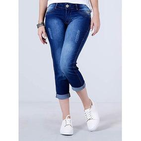 Kit C/7 Calças Feminina Jeans Cigarrete Skinny Lycra Até 54