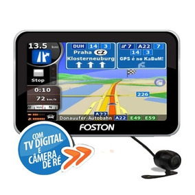 Gps Automotivo Foston 4.3 Tela- Tv Digital Com Camera Dê Re