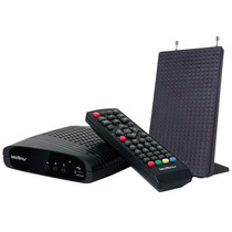 Kit Conversor Digital Tv Intelbras Com Gravador E Antena
