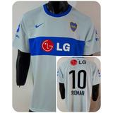 Camiseta Nike Boca Juniors Suplente Lg 2010 10 Roman Unica!!