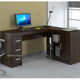 Escritorio esquinero muebles para oficinas en mercado for Juego de mesa esquinero