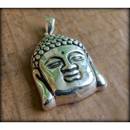 Pingente Buda Budha Budismo Samyaksambuddha K17 - Pura Prata