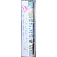 10 Fitas Washi Tape Adesiva Decorativa Artesanato Mj-57
