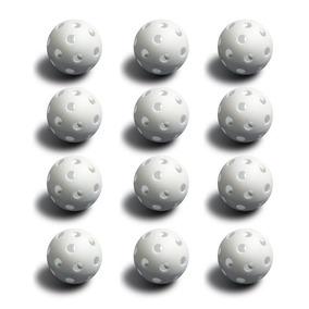 12 Pelotas De Béisbol Blanca Poli (tamaño Del Reglamento) P