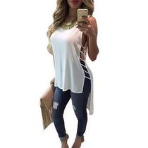 Blusas Fashion Largas De Dama Maxi Blusas Crop Top Camisas