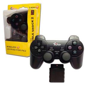 Controle Joystick Wireless Sem Fio Psone Ps2 Original Feir