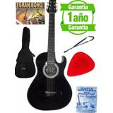 Guitarra Acustica Forro Colgador Pua Metodo Porta Pua Clases