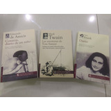 Pack Libros Ana Frank, Corazón Diario, Tom Sawyer