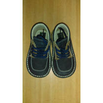 Zapatos De Cuero Para Niño Valle Verde Poco Uso Talla 21