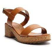 Sandália Feminina Salto Baixo Cortiça Tiras - My Shoes
