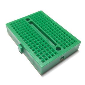 2 Mini Protoboard Breadboard 170 Pontos Furos Pinos Verde