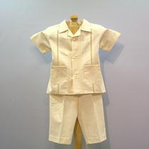 Guayabera Conjunto Con Pantalón Manta Bebé Picueta