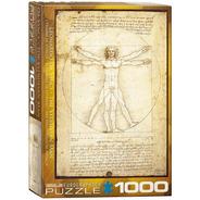 Da Vinci Hombre Vitruvio Rompecabezas 1000 Pza Eurographics