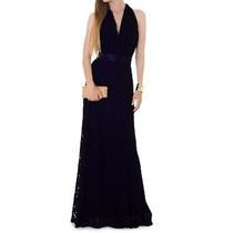 Lindo Vestido Longo Em Renda Com Faixa Cetim Casamentos