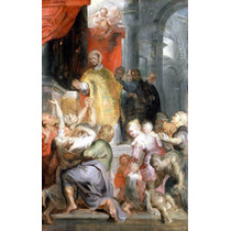 Lienzo Tela El Milagro De San Ignacio De Loyola Paul Rubens
