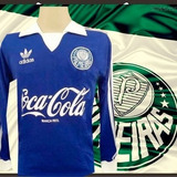 Camisa Retrô Palmeiras Goleiro Coca Cola Azul Ml - 1992 7d8ff8a9fc72b