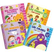 ** Combo 4 Libros Bilingue Bebe Toco Y Aprendo ** Ingles