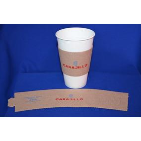 Fajilla De Cartón Impresa Para Vaso De Café