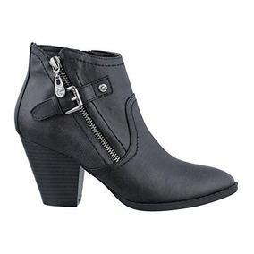 Zapatos Botin Mujer Guess Americanos 6 Usa Original Negro 36