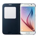 Estuche Forro Samsung S6 S View Cover Negro