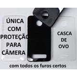 Capa Tpu + Película De Vidro + Traseira Moto Z Play Xt1635