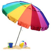 Sombrilla Paraguas Canopy Ajustable 8pies Uv Jardín Playas