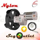Kit Motor Porta Enrolar Comercial Roller 7,5 Mts² C/ Freio