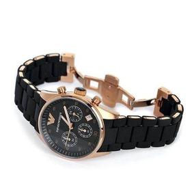 Relógio Luxo Emporio Armani Ar5905 Preto Rose Original Lindo
