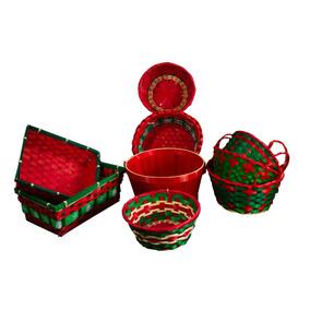 Canastos Navidad 9 Pc Navidad - Comb Canastos