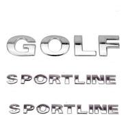 Kit Emblemas Golf + 02 Sportline +brinde