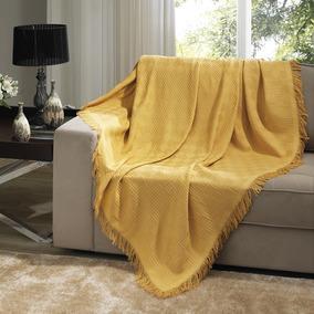 Manta De Sofá Decorativa 100% Algodão 1,20x1,50 - Dohler