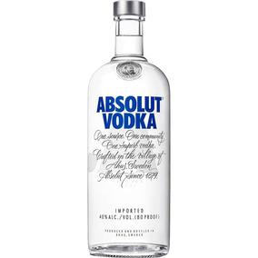 Vodka Absolut Natural 1 Litro 1000ml Original C/ Dosador