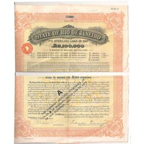 Apólice 100 Libras Rio De Janeiro 1927 7,% De Juros