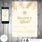 Invitación Digital. Personalizada. Fiestas Matrimonios 15