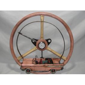 5fabb3ffe1c Relogio Decorativo Volante Simca Carro Antigo Rustico Metal