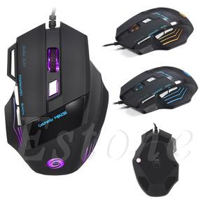 Gaming Mouse, Mouse Gamer 5500 Dpi 7 Botones Led Usb