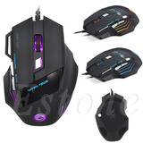 Mouse Gamer 5500 Dpi 7 Botones Led Usb