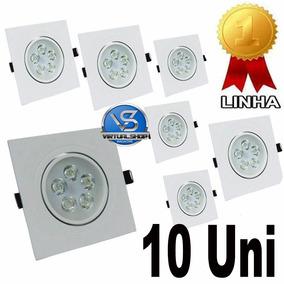 Kit 10 Spot Quadrado Led 5w Lampada Direcionável Sanca Gesso