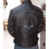 Jaqueta Harley Davidson Couro Legítimo Skull Willie G.